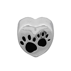 Pandora Paw Print On Heart Charm