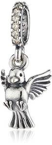 Pandora Peace Dove Heart With CZ Charm