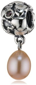Pandora Pearl Of Hearts Natural Pearl With Brown Cz Charm