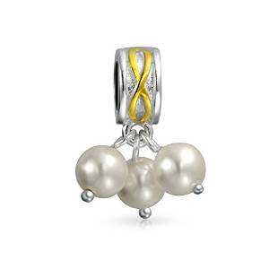 Pandora Pearl Star Pattern Charm smaller image