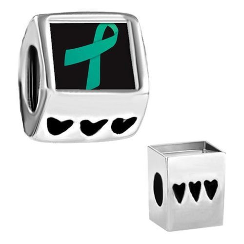 Pandora Photo Teal Ribbon Awareness Charm image