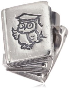 Pandora Pile Of Books Silver Charm
