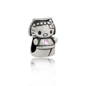 Pandora Pink CZ Cool Kitty Charm image