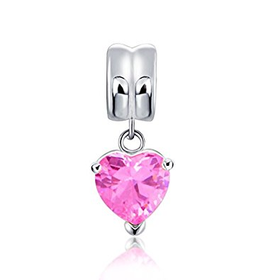 Pandora Pink CZ Dangle October Birthstone Charm