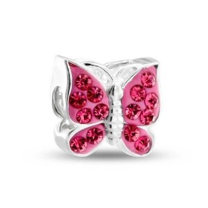 Pandora Pink Crystal Butterfly Charm image