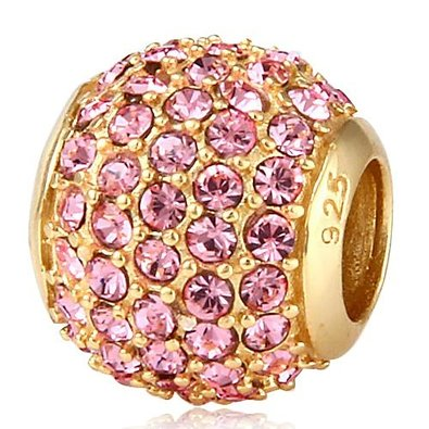 Pandora Pink Crystals Gold Plated Charm