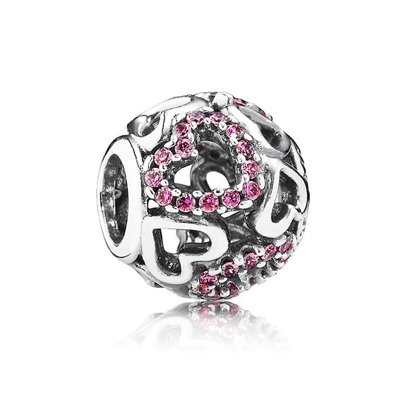 Pandora Pink Heart Envelope Dangle Charm