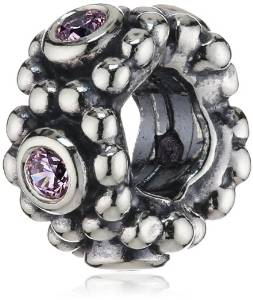 Pandora Pink Stones Silver Plated Charm