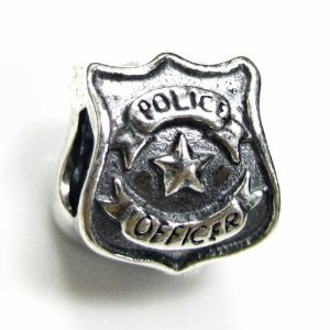 Pandora Police Officer Badge Silver Charm