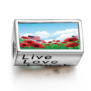 Pandora Poppy Words Live Love Laugh Charm