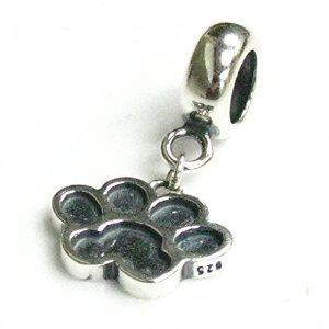Pandora Puppy Footprint Paw Dangle Charm
