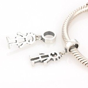 Pandora Pure Solid Dangle Symbol Boy Charm