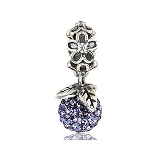 Pandora Purple Crystal Dangle Charm smaller image
