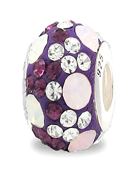 Pandora Purple Crystal Opal Charm