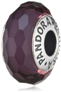 Pandora Purple Faceted Murano Charm