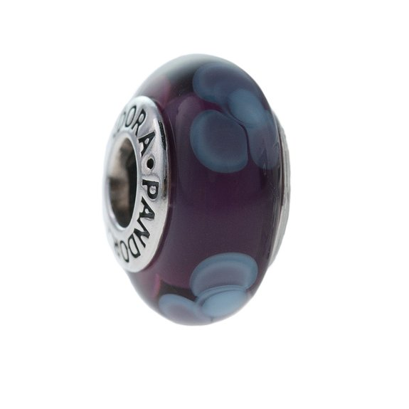 Pandora Purple Glass Charm