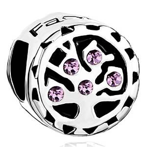 Pandora Purple June Birthstone Stripe Charm