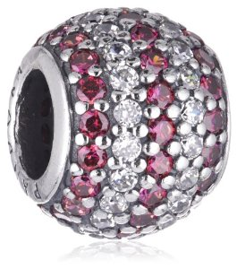 Pandora REd Cubic Zirconia Silver Charm