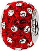 Pandora Red And Clear Swarovski Crystals Charm