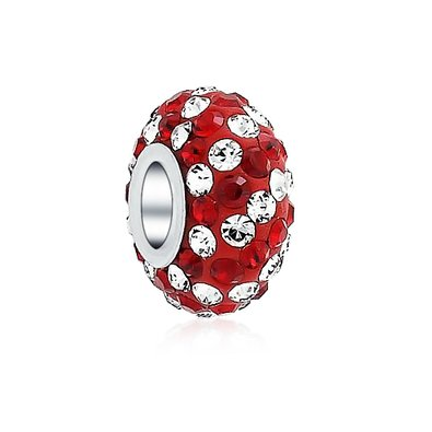 Pandora Red Clear Crystal Charm