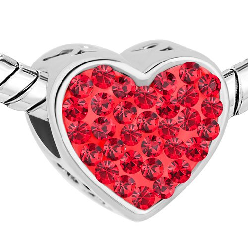 Pandora Red Color Heart Charm