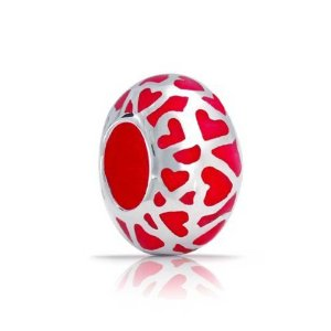 Pandora Red Enamel Love Open Heart Charm