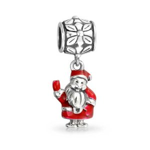 Pandora Red Enamel Santa Claus Dangle Charm