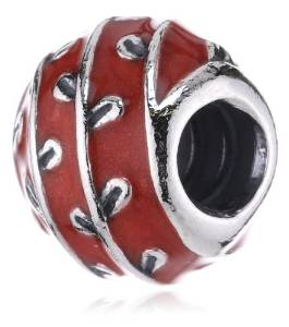 Pandora Red Enameled Silver VINES Charm