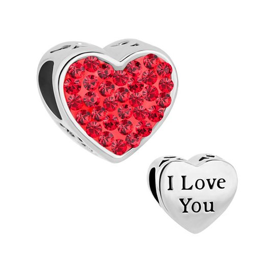 Pandora Red Love Hearts Charm