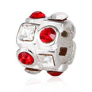 Pandora Red Square Pattern Charm smaller image