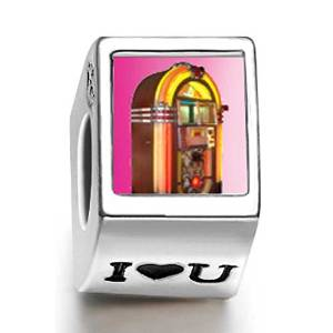 Pandora Rock N Roll Jukebox Heart Photo Charm