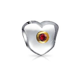 Pandora Ruby Color CZ July Birthstone Charm smaller image