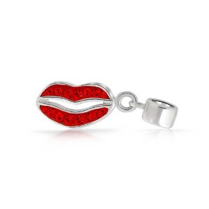 Pandora Ruby Red Lips Kiss Dangle Charm