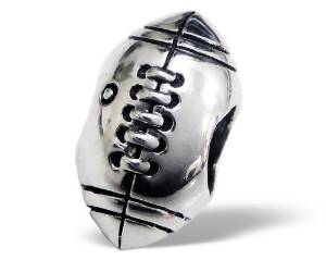 Pandora Rugby Ball Spacer Sterling Silver Charm image