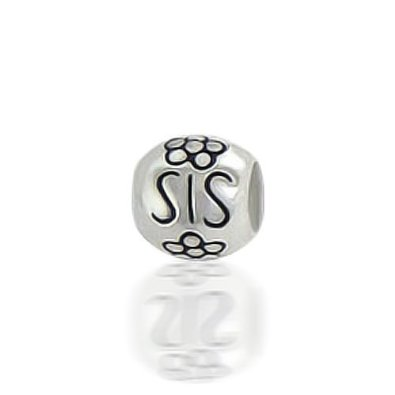 Pandora SIS Barrel Flower Sterling Silver Charm