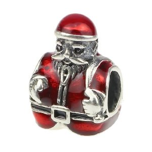 Pandora Santa Clause Enamel Red Charm
