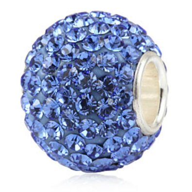 Pandora Sapphire Blue Pale Blue Murano Glass Charm smaller image