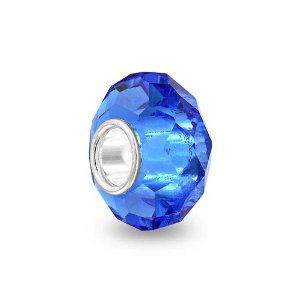 Pandora Sapphire Faceted Crystal Glass Charm