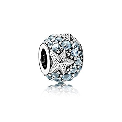 Pandora Sea Star Turquoise Synthetic Spinel Charm