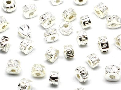 Pandora Set Of 10 Clip Stopper Silver Plated Charm