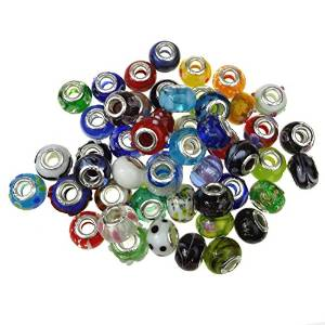 Pandora Set Of 50 Mixed Murano Charm