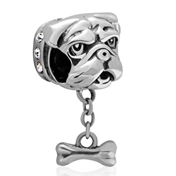 Pandora Shar Pei Dog Brown Photo Charm