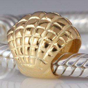 Pandora Shell Gold Plated Charm