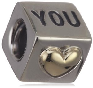 Pandora Silver And Gold I Love You Charm