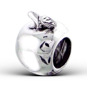 Pandora Silver Apple Fruit Charm