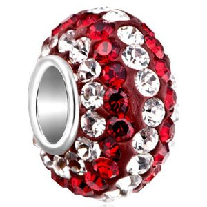 Pandora Silver April July Birthstones Swarovski Crystals Charm