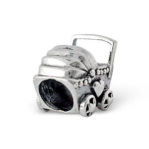 Pandora Silver Baby Buggy Charm image