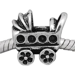 Pandora Silver Baby Carriage Charm