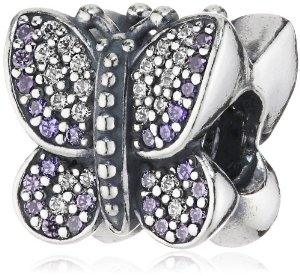 Pandora Silver Butterfly CZ Bead Charm