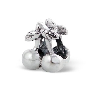 Pandora Silver Cherry Fruit With Leaves Charm